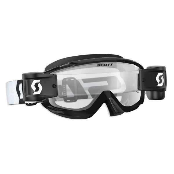SCOTT SPLIT OTG WFS BRILLE black/white / clear works